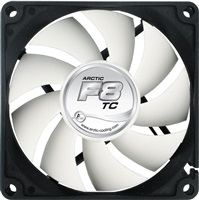 Product Image of Arctic Cooling Temperature Controlled Case Fan Arctic F8 TC, 80mm FAN, 500-2000 RPM, Air flow 28.0 CFM, Noise level Max 0.3 Sone