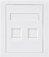 Product Image of Astrotek CAT5e RJ45 Wall Face Plate 86x86mm 2 Port Socket Kit