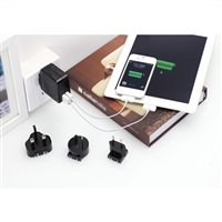 Product Image of Huntkey TravelMate D204 Multi Plugs USB Wall Charger Adapter 4.2 A US UK EU AU Plugs with Car Charger