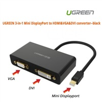 Product Image of UGreen 3-in-1 Mini DisplayPort to HDMI,VGA,DVI converter--black